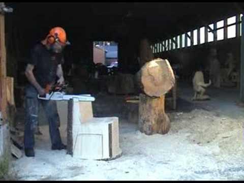 Chainsaw sculpture chair