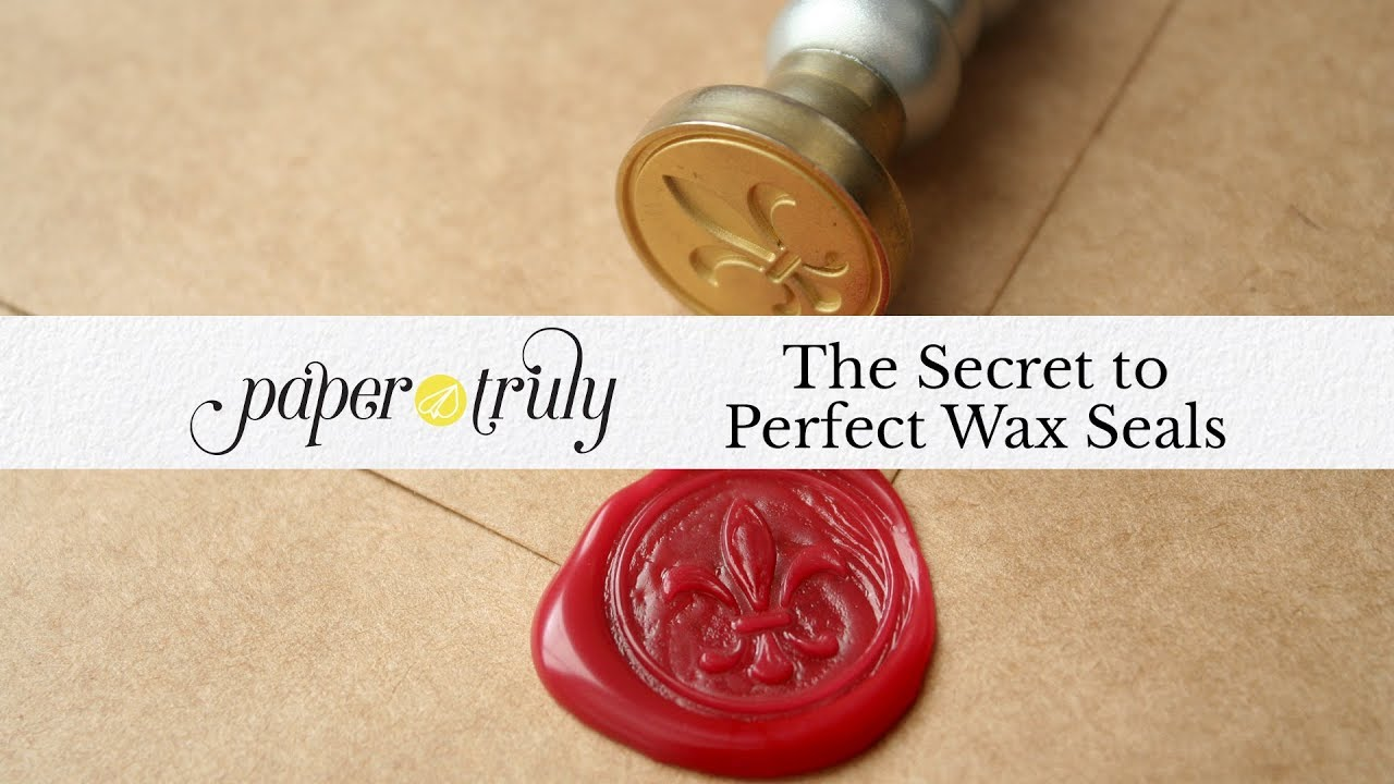 The Secret to Perfect Wax Seals - YouTube
