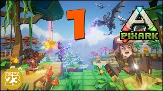 PixARK 💠Würfel Dinos überall! NICE! 💠 #1 [Let's Play/Gameplay/Deutsch] PixARK vs ARK