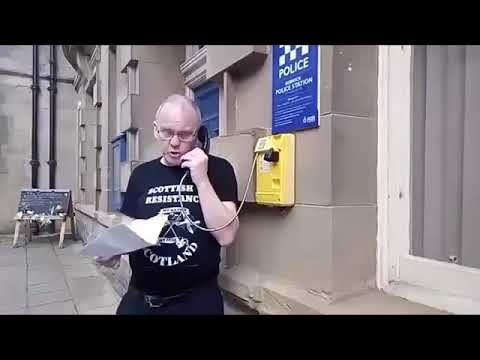 Scottish Resistance Hilarious Phone Call To Police Scotland To Report International War Crime!