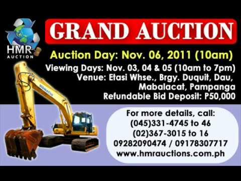 Grand Auction on Nov. 06 in HMR Dau, Pampanga Warehouse
