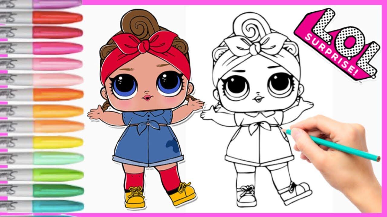 download lol surprise dolls menggambar dan mewarnai lol