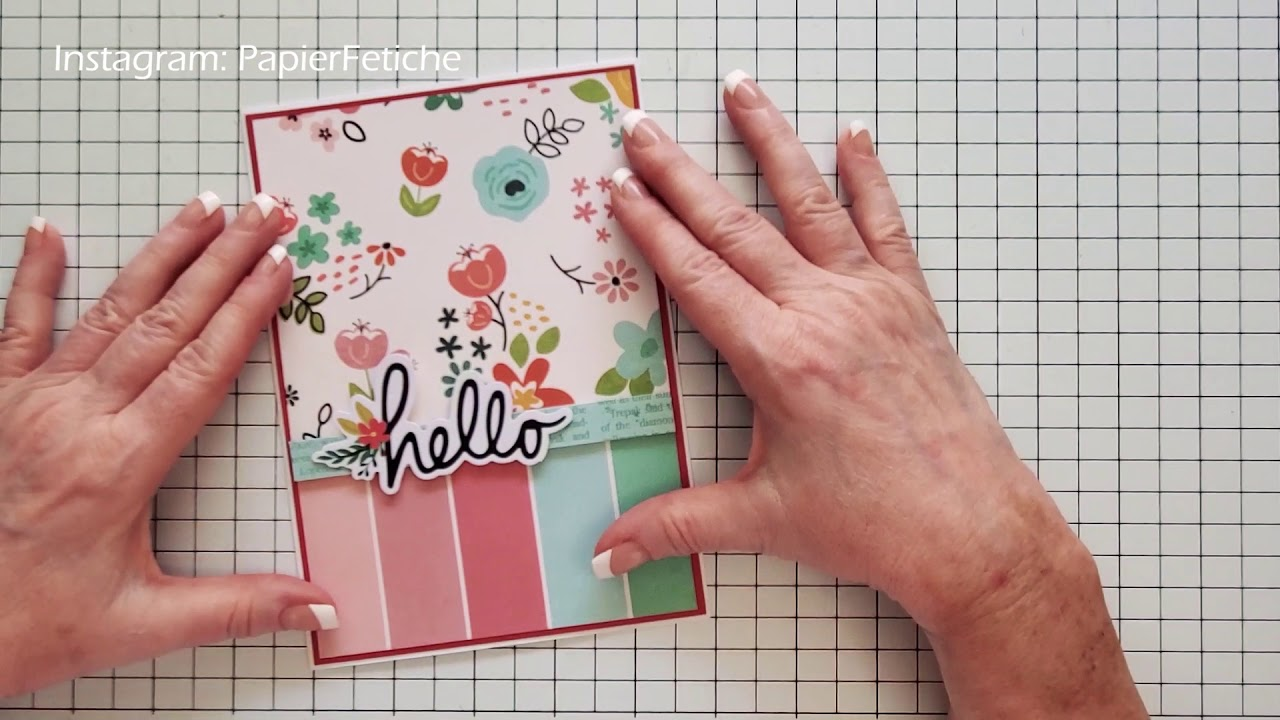 """Hello"" card making tutorial-My Creative Scrapbook"
