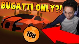 KID USES BUGATTI ONLY TO GRIND TO LEVEL 50?! (Roblox Jailbreak)