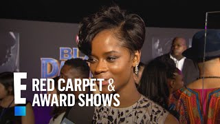 "Letitia Wright Reveals ""Black Panther"" Set Had Rap Battles 
