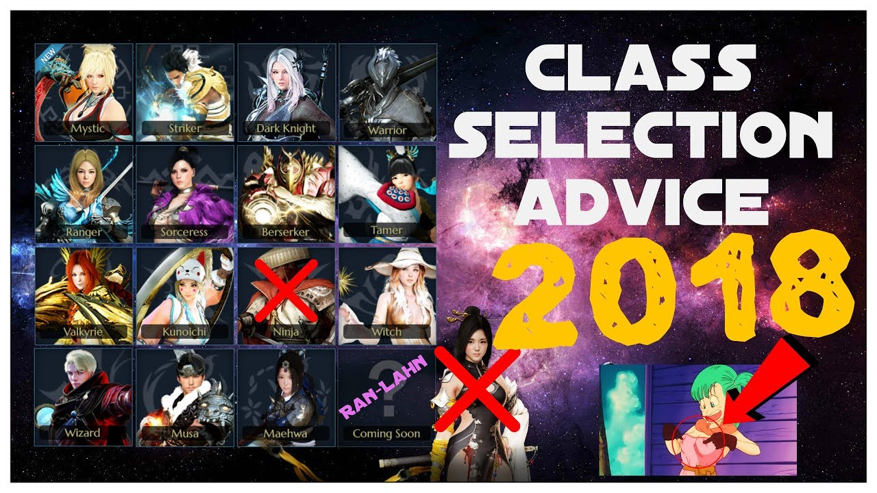 Best Class In Bdo 2019 Black Desert Online   Class Selection Advice 2018   YouTube