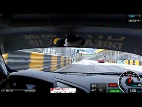 Edoardo Mortara Macau GT Qualiyfing 2012