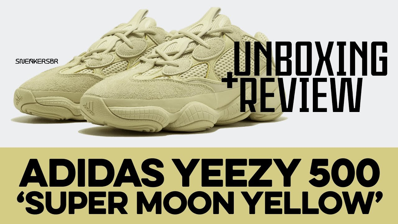 2691c76d741 UNBOXING+REVIEW - adidas Yeezy 500  Super Moon Yellow  - YouTube