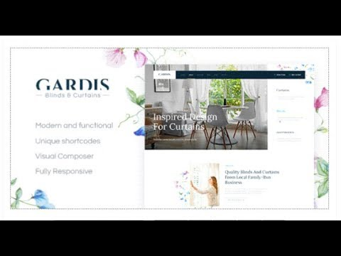 Gardis | Blinds and Curtains Studio & Shop | Themeforest Download