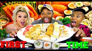 NICOLE TRIES SUSHI FOR THE FIRST TIME!!🍣🍙