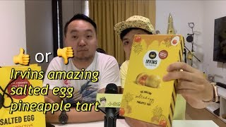 Irvin's amazing salted egg pineapple tarts taste test