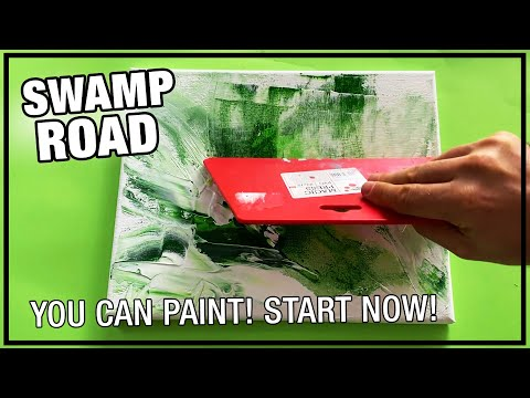 Swamp Road / Day 095 / Landscape Painting Demo / For Beginners / Daily Art Therapy