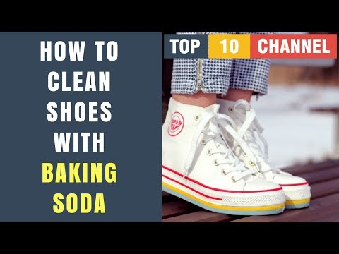 How To Clean White Shoes With Baking Soda and Vinegar, Peroxide, Water, Laundry detergent At Home