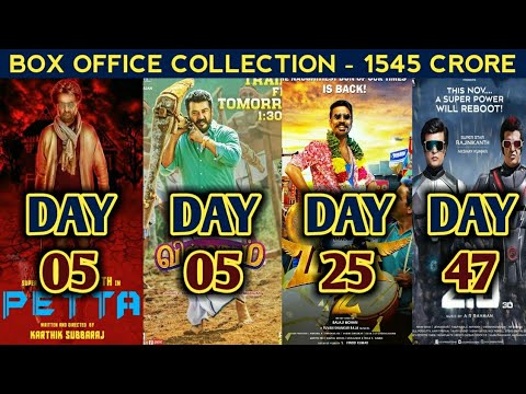 Box Office Collection Of Petta,Viswasam,Maari 2 & 2.0 | Rajinikanth | Ajith Kumar | 14th Jan 2019