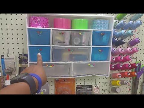 DIY Dollar Tree Craft Storage Shelf Cheap Storage hack with foam board by The Baby's Booty