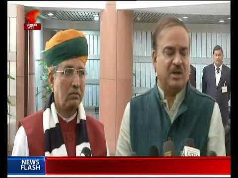 Parliamentary Affairs Minister Ananth Kumar speaks to media after BJP Parliamentary Party meeting