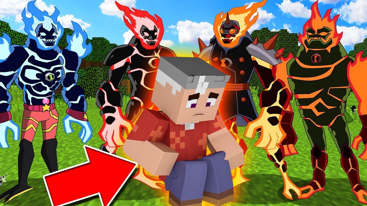 ATEŞ TOPLARI BÜYÜK BABAMI KAÇIRDI! ŞİŞECRAFT #1 - BEN 10 Minecraft