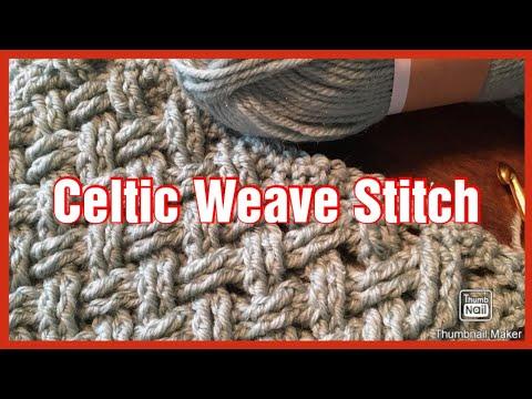 Iedereen kan haken© Celtic Weave Stitch Crochet Keltische Weefsteek different languages subtitled