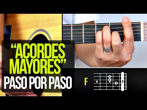 ACORDES MAYORES DE GUITARRA ¡PASO POR PASO! | APRENDE GUITARRA #3 Prt2