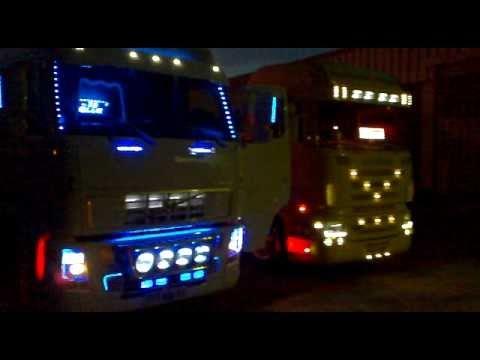 interieur volvo fh12 leds bleu