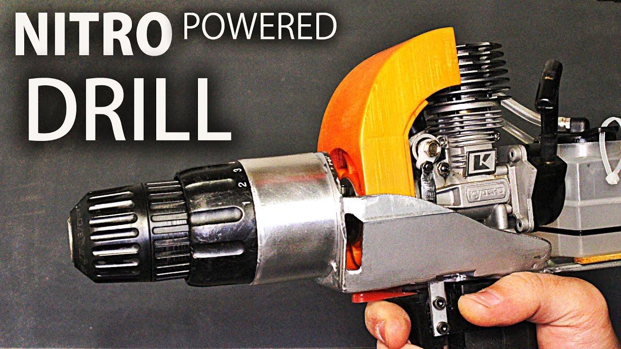 nitro engine powered drill youtube