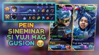 Pein Na Seminar si Yuji! 😂 | GUSION GAMEPLAY | RANKED GAME | MOBILE LEGENDS