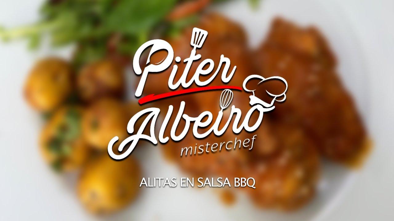 Alitas en Salsa BBQ   @PiterAlbeiro