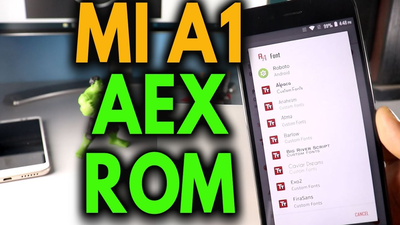 Download Aosp Extended ROM For MI A1 [AEX Rom]