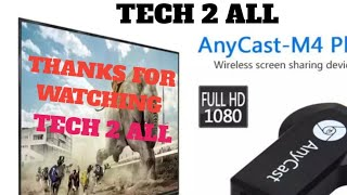 AnyCast M4 Plus Wireless WiFi Display Dongle Receiver 1080P HDMI/TECH 2 ALL