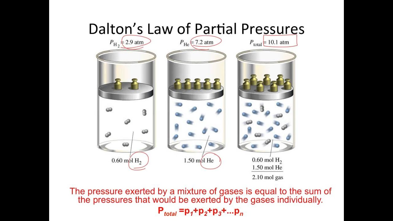 Ideal Gas and Dalton Law of Partial Pressures - YouTube
