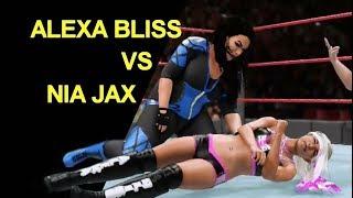 WWE 2K18 Alexa Bliss vs Nia Jax