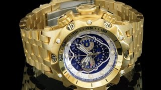 Invicta 16805 Venon Hybrid 18kt Gold Plated Swiss Master Calendar Chronograph Bracelet Watch