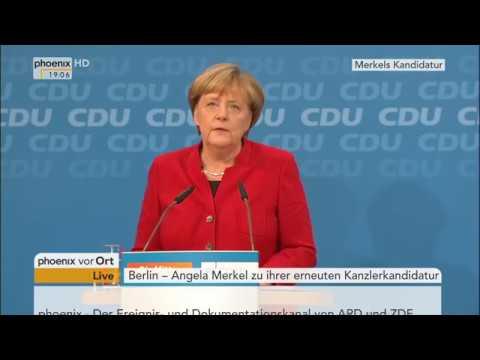 Erneute Kanzlerkandidatur: Pressekonferenz von Angela Merkel am 20.11.2016
