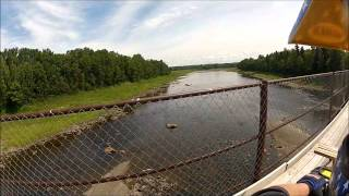 Crouseville Atv Bridge Stretching Over The Aroostook River July 29, 2012