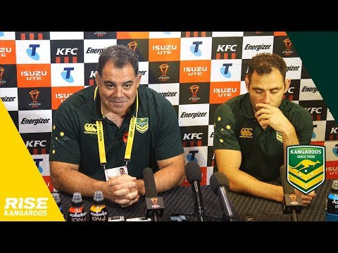 Kangaroos Press Conference v Lebanon