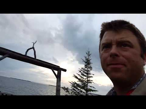 Camping at Etthan Island, East Arm of Great Slave Lake, Northwest Territories, Canada