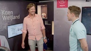 Klaas probeert voor 1 dag het beroep van Offical ePlayer van Ajax: ...