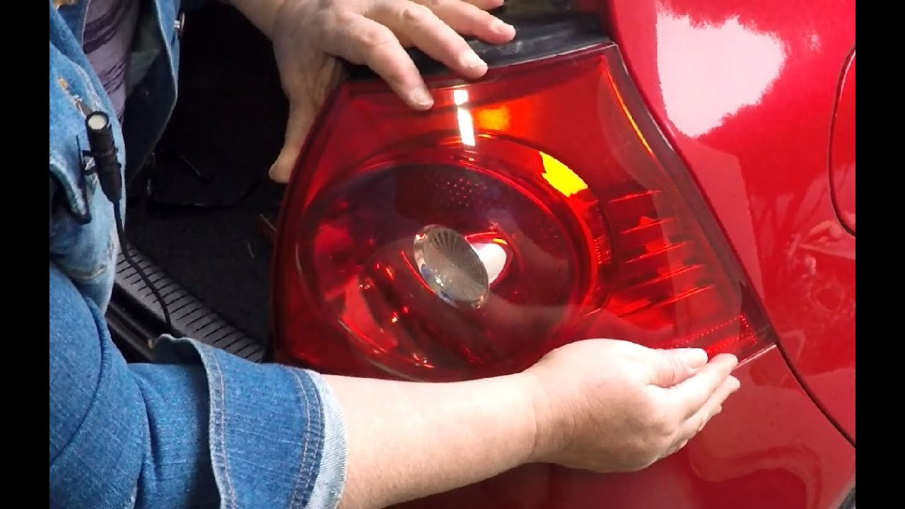 How To Replace A Vw Rabbit Tail Light Brake Bulb