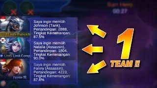 PATRICK, ZXUAN, COMPANY, dan BOWO Dalam 1 TEAM Mobile Legends.!!