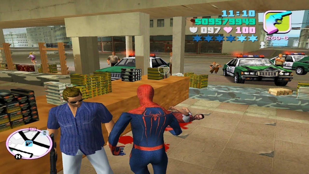 Người Nhện Spider man Đi Cướp Ngân Hàng Trong GTA VICE CITY – Bình Luận GTA VICE CITY