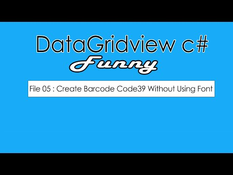 File 05 : C# Barcode Generator without using Font Step By Step Full Source Code