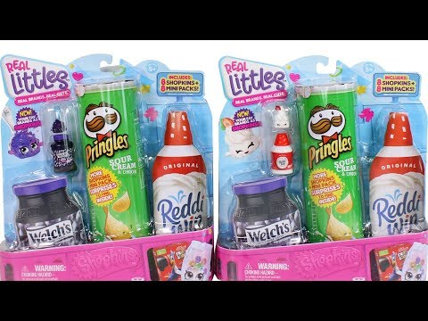 Shopkins Real Littles Lil Shopper Packs Unboxing Toy Review