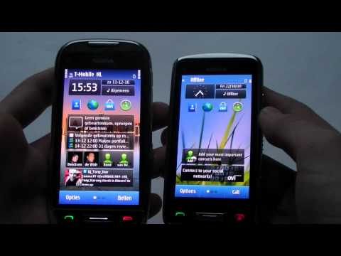 English: Nokia C7-00 vs Nokia C6-01