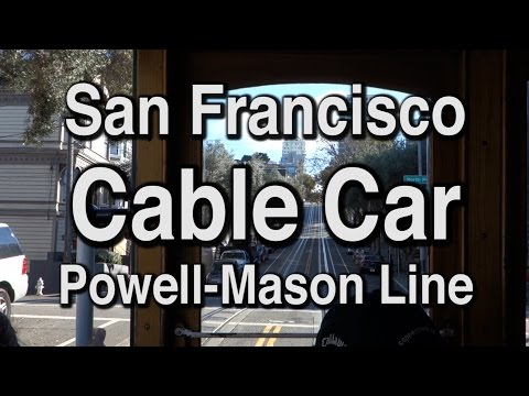 Cable Car in San Francisco Powell- Mason Line (In trouble middle of the route) SFのケーブルカー #cablecar