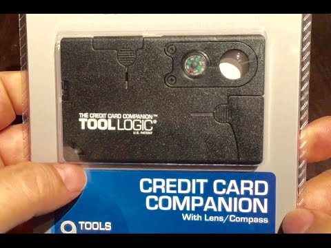 Tool Logic SOG Specialty Knives & Tools CC1SB Credit Card Companion with 9 Tools