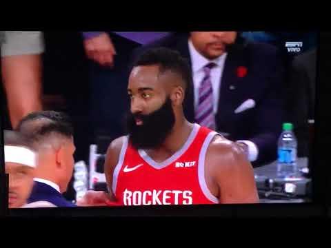 Pelea Lakers 🆚 Rockets Staples Center USA 21/Octubre/2018