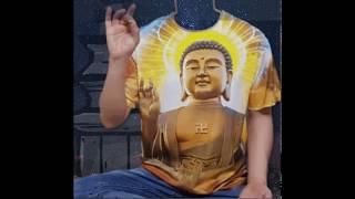쓸데없는선물 - 부처 핸즈업 반팔 티셔츠