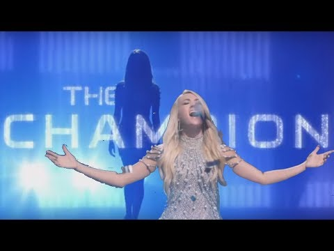 Carrie Underwood The Champion Superbowl 2018 Opening Song ft Ludacris Lyrics in Captions