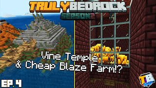 Cheap Blaze Farm & The Vine Shop | TrulyBedrock Season 2 [#4] | Minecraft Bedrock Edition SMP Server