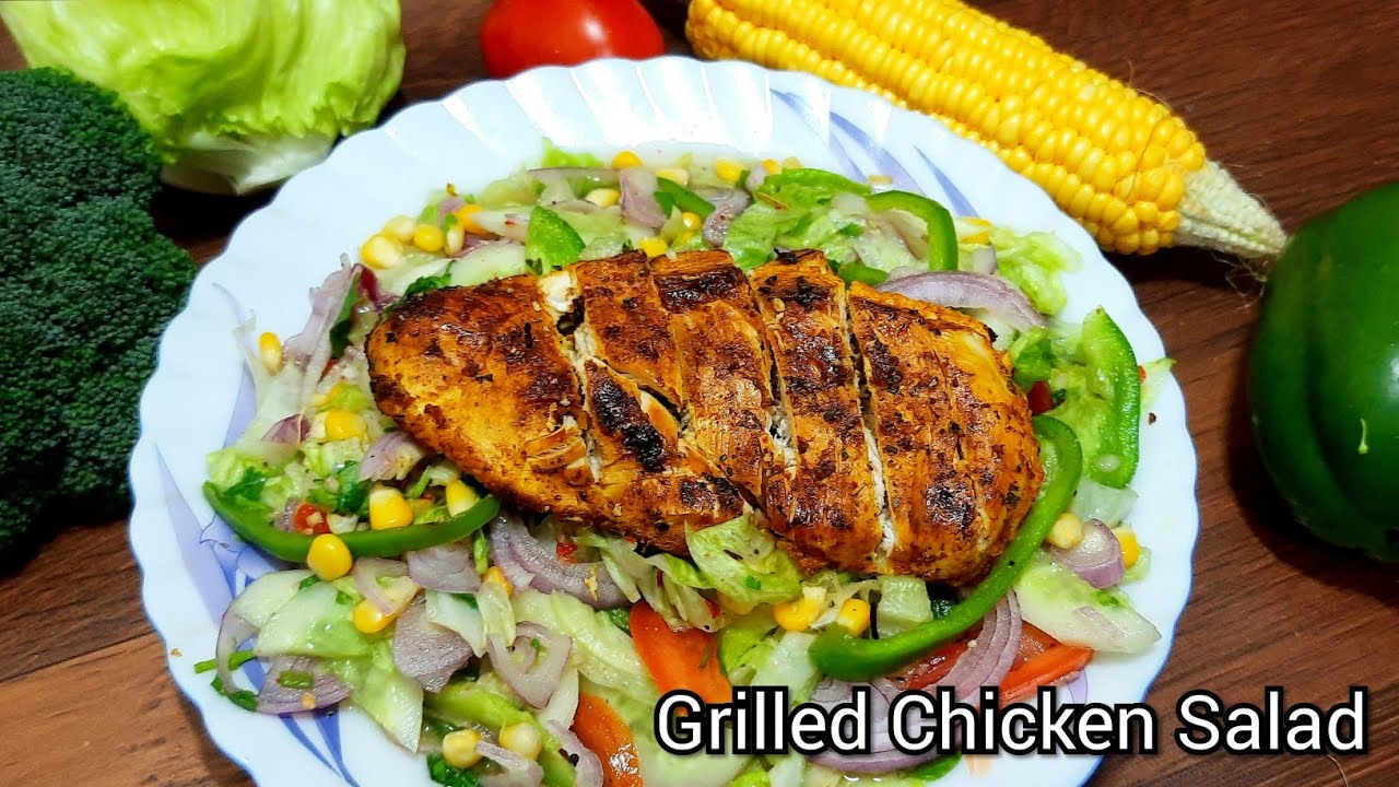 Grilled Chicken Salad Recipe Healthy Salad Recipe For Weight Loss Recipe Indian Fusion Cooking Lets Cooks And Satisfy Those Buds